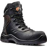 V1750/10, Defender Black Composite Toe Safety Shoes, UK 10