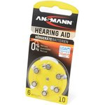 ANSMANN Zinc-Air 5013223 10 UK BL6, Элемент питания