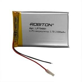 Фото 1/2 LP754061, Аккумулятор литий-полимерный (Li-Pol) 2300мАч 3.7В, с защитой