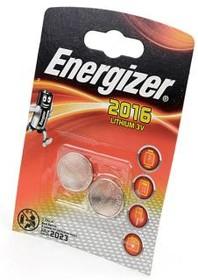 Фото 1/2 Energizer CR2016 BL2, Элемент питания