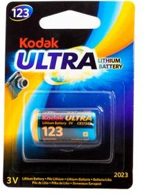Фото 1/2 Kodak MAX Lithium CR123 BL1, Элемент питания