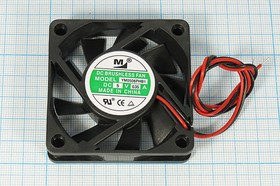 Фото 1/6 Вентилятор бесщёточный 5 Вольт, двойной шариковый подшипник, 4500 об/мин, ВН321 вент 60x60x15\ 5В\0,35А\2L\ШП\YM0506PHB1
