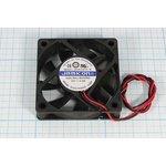 Вентилятор постоянного тока 12 Вольт, 60x60x15мм, шариковый подшипник ...