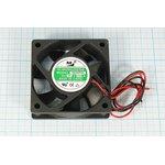Вентилятор постоянного тока 24 Вольта, 60x60x20мм, шариковый подшипник ...