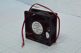 Фото 1/6 Вентилятор постоянного тока 12 Вольт, 60x60x25мм, шариковый подшипник, 4500об/мин, ВН360 вент 60x60x25\ 12В\0,16А\2L\ШП\ FBDCF-6025D12HB