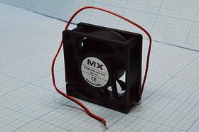 Фото 1/6 Вентилятор бесщёточный 24 Вольта, 60x60x25мм, шариковый подшипник, 4500об/мин, ВН358 вент 60x60x25\ 24В\0,13А\2L\ШП\ FBDCF-6025D24HB\MX