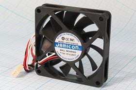 Фото 1/5 Вентилятор бесщёточный 12В с контролем скорости, 70x70x15мм, шариковый подшипник, 4200об/мин, ВН092 вент 70x70x15\ 12В\4,2Вт\3L+HU3\ШП\KF0