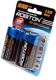 10000MHD, Аккумулятор никель-металлгидридный NiMH 10000mAh (2шт) 1.2В