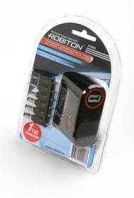 ROBITON K3000S 3000мА с насадками Micro- и Mini-USB BL1, Адаптер/блок питания автомобильный