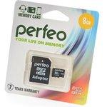 PERFEO microSD 8GB High-Capacity (Class 10) с адаптером BL1 ...