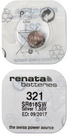 RENATA SR616SW 321, Элемент питания