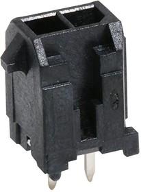 43045-0229, Разъем типа провод-плата, 2 контакт(-ов), Штыревой Разъем, Micro-Fit 3.0 43045 Series