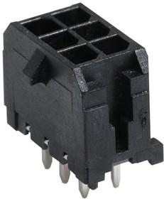 43045-0629, Разъем типа провод-плата, 3 мм, 6 контакт(-ов), Штыревой Разъем, Micro-Fit 3.0 43045 Series