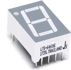 Фото 1/2 LTS-6460G, Дисплей LED, 7-сегментный, 14,22мм, зеленый, 0,87-2,4мкд, анод