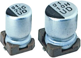 UUD1E101MCL1GS, ALUMINUM ELECTROLYTIC CAPACITOR 100UF 25V 20%, SMD