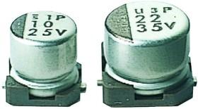 Фото 1/2 UWT0J221MCL1GB, Cap Aluminum Lytic 220uF 6.3V 20% (8 X 5.4mm) SMD 102mA 1000h 105°C Automotive T/R