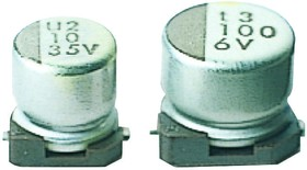 UWX1E101MCL1GB, ALUMINUM ELECTROLYTIC CAPACITOR 100UF 25V 20%, SMD, FULL REEL