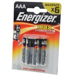Energizer MAX+Power Seal LR03 BL6, Элемент питания