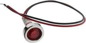 FL1P-10NW-1-R24V, LED RED 10MM NUT 24VAC/DC STK 99AC2487