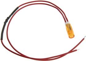 FL1P-6QW-1-Y110V, LED YEL 6MM SNAP 110VAC/DC STK 99AC2610