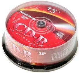Фото 1/2 VS CD-R 80 52x CB/25, Записываемый компакт-диск