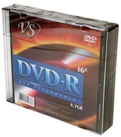 Фото 1/2 VS DVD-R 4.7 GB 16x SL/5, Записываемый компакт-диск