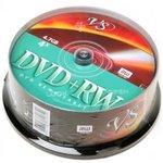 VS DVD+RW 4.7 GB 4x CB/25, Перезаписываемый компакт-диск