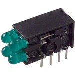 569-0102-222F, INDICATOR, LED PCB, 4LED, 3MM, GREEN, 2.1V