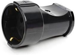 Фото 1/2 MAKEL 10053 штепсель черный (з) (без индивидуальной упаковки), Штепсель