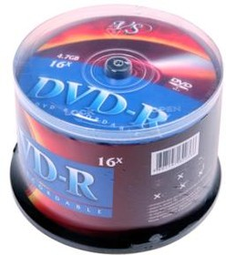 VS DVD-R 4.7 GB 16x CB/50, Записываемый компакт-диск