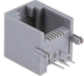 52018-6646, Модульный разъем, Modular Jack, 1 x 1 Port, 6P6C, Монтаж в Сквозное Отверстие