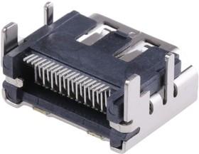 Фото 1/3 47151-0001, Разъем HDMI, 19 контакт(-ов), Гнездо, Монтаж на Печатную Плату, Контакты с Покрытием из Золота