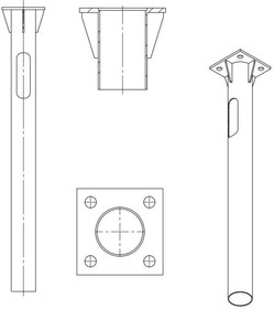 Деталь фундамента закладная для несиловых опор ЗДФ-0.159-2.0 (К240-180-4х25)-02 Пересвет В00000210