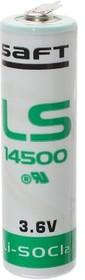 Фото 1/2 LS14500 2PF (А316/LR06/AA), Элемент питания литиевый 2600 mAh, 14.5х50 (1шт) 3.6В