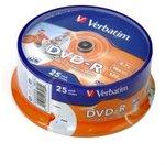 Verbatim 43538 DVD-R 4.7 GB 16x CB/25 Ink Print ...