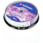 Verbatim 43666 DVD+R 8.5 GB 8x CB/10 Double Layer ...