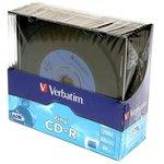 Verbatim 43426 CD-R 80 52x DL+SL/10 Vinyl, Записываемый компакт-диск