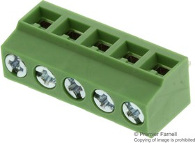 MCTB-61C05, TERMINAL BLOCK PCB, 5 POSITION, 26-14AWG, 5MM