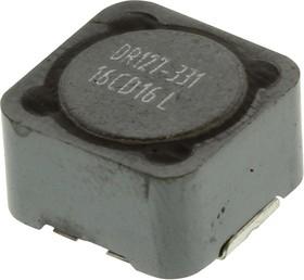 Фото 1/3 DR127-331-R, Силовой Индуктор (SMD), 330 мкГн, 1.04 А, Экранированный, 2.01 А, Серия DR, 12.5мм x 12.5мм x 8мм