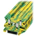XBUT4D22PE, TERMINAL BLOCK,GROUND, 4WIRE 6.2MM, 26-10AWG
