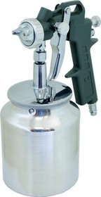 Краскопульт пневматический КАЛИБР КРП-1,5/0,75НБ HP, сопло: 1.5 мм, макс. 200 л/мин, бак: 0.75 л