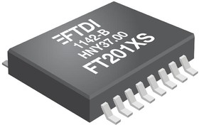 Фото 1/2 FT201XS-R, USB интерфейс, USB-I2C Интерфейс, USB 2.0, 2.97 В, 5.5 В, SSOP, 16 вывод(-ов)
