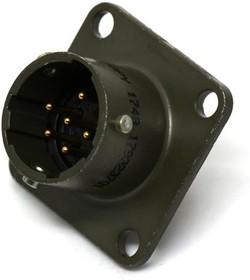 PT02E-10-98PY, Conn Circular PIN 6 POS Solder ST Box Mount 6 Terminal 1 Port