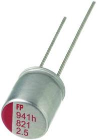 RL80J821MDN1KX, ALUMINUM ELECTROLYTIC CAPACITOR, 820UF, 6.3V, 20%, RADIAL