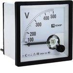 Вольтметр аналоговый VMA-721 на панель 72х72 (квадратный вырез) 500В прямое ...