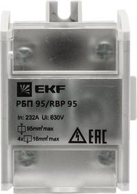 Фото 1/2 Блок распределительный проходной РБП 95 (1х95-4х16кв.мм) 232/100А PROxima EKF RBP-95-100