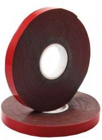 Фото 1/4 09-6006, Двухсторонний скотч, красного цвета на серой основе, 6мм, 5метров