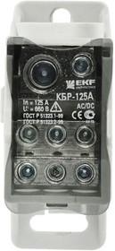 Блок распределительный КРОСС крепеж на панель и DIN КБР-160А EKF plc-kbr160