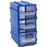 К4 Синий, Ячейки, синий корпус прозрачный контейнер 3 ...