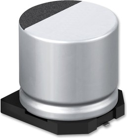 EEEFTH100UAR, SMD электролитический конденсатор, Radial Can - SMD, 10 мкФ, 50 В, 2.3 Ом, Серия FT